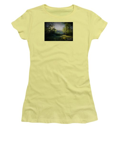 Women's T-Shirt (Junior Cut) featuring the painting First Sun by Mim White