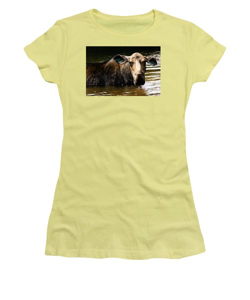 First West Branch Pond Moose Women's T-Shirt (Athletic Fit)