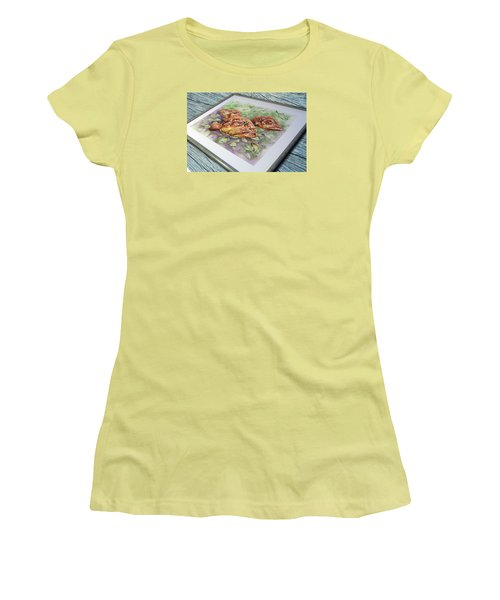 Fish Bowl 2 Women's T-Shirt (Junior Cut) by William Love