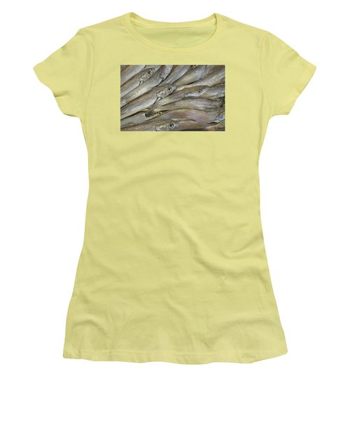 Fish Eyes Women's T-Shirt (Junior Cut) by Joe Bonita