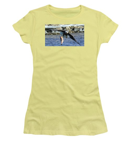 Women's T-Shirt (Junior Cut) featuring the photograph Fish In Hand by Coby Cooper