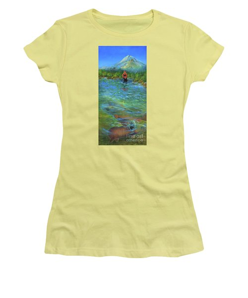Fish Story Women's T-Shirt (Junior Cut) by Jeanette French