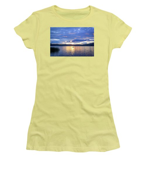 Fisherman Heading Home Women's T-Shirt (Athletic Fit)