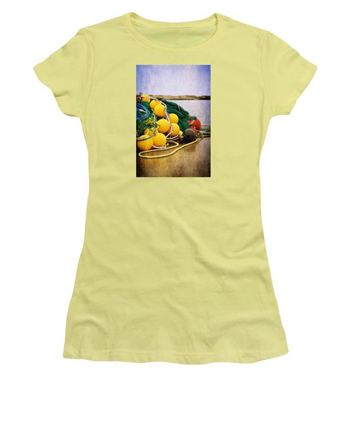 Fisherman's Net Women's T-Shirt (Junior Cut) by Randi Grace Nilsberg