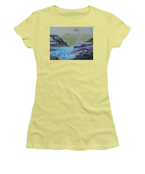 Fisher's Cove Women's T-Shirt (Junior Cut) by Mike Caitham