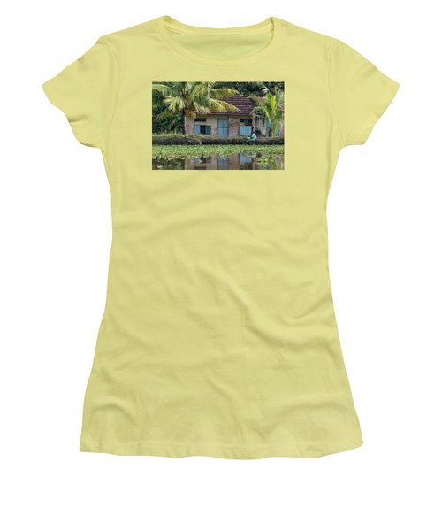 Women's T-Shirt (Junior Cut) featuring the photograph Fishing by Marion Galt