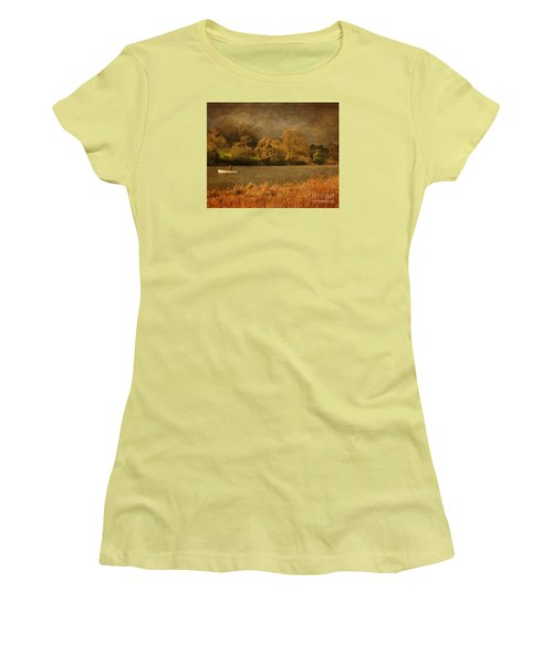 Fishing On Thornton Reservoir Leicestershire Women's T-Shirt (Junior Cut) by Linsey Williams