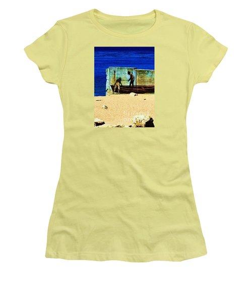 Women's T-Shirt (Junior Cut) featuring the photograph Fishing by Vanessa Palomino