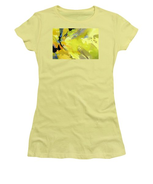 Women's T-Shirt (Junior Cut) featuring the painting Fissures Of Time by Rae Andrews