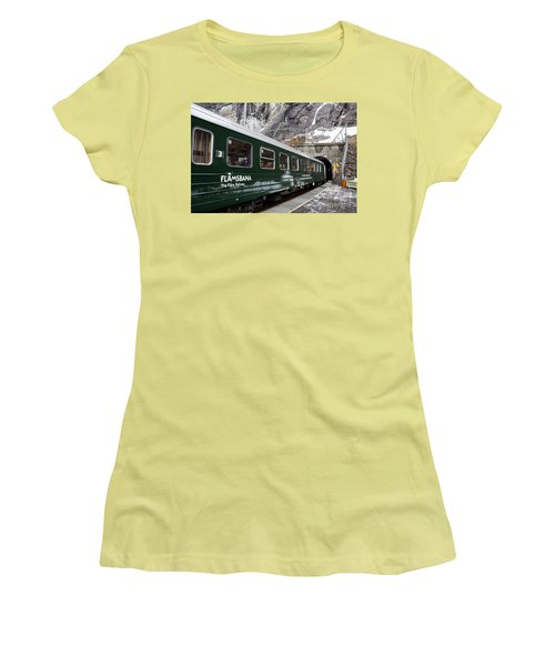 Flam Railway Women's T-Shirt (Junior Cut) by Suzanne Luft