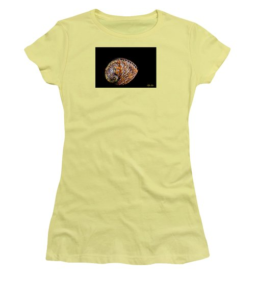 Women's T-Shirt (Junior Cut) featuring the photograph Flame Abalone by Rikk Flohr