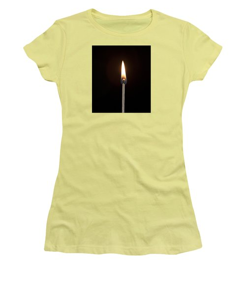 Flame Women's T-Shirt (Junior Cut) by Tyson and Kathy Smith