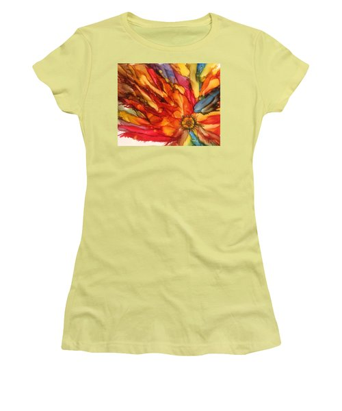 Women's T-Shirt (Junior Cut) featuring the painting Burst by Pat Purdy
