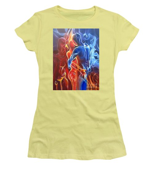 Flaming Lovers Women's T-Shirt (Athletic Fit)