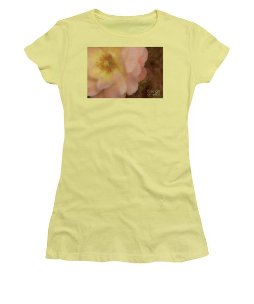 Women's T-Shirt (Junior Cut) featuring the photograph Flaming Rose by Phil Mancuso
