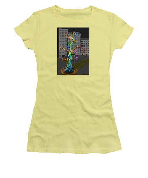 Flaming Tree Women's T-Shirt (Athletic Fit)