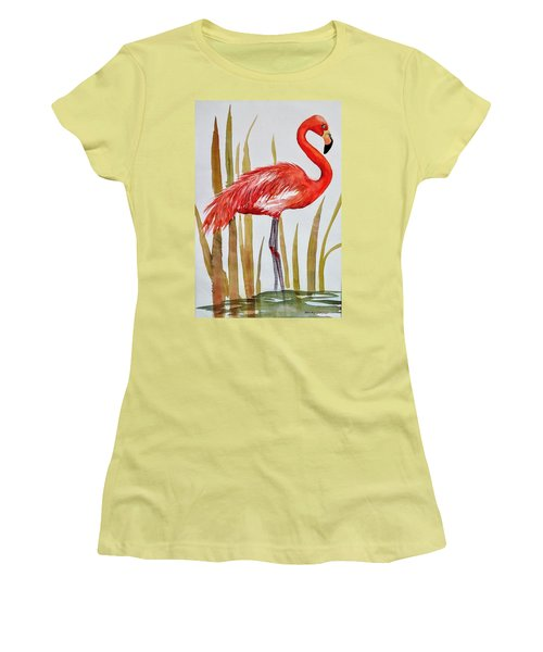 Flamingo Women's T-Shirt (Athletic Fit)