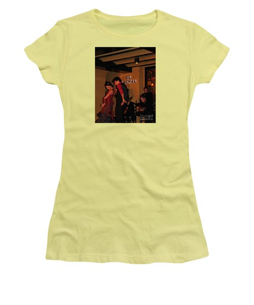 Women's T-Shirt (Junior Cut) featuring the photograph Flamingo Dancers by Haleh Mahbod