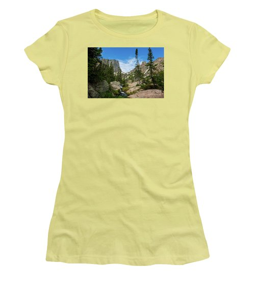 Flattop Mountain Women's T-Shirt (Athletic Fit)