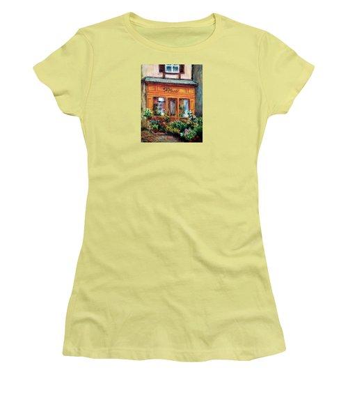 Fleurs Women's T-Shirt (Junior Cut) by Jill Musser