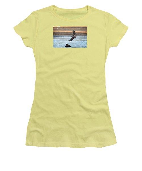Flight Lessons Women's T-Shirt (Junior Cut) by Sabine Edrissi