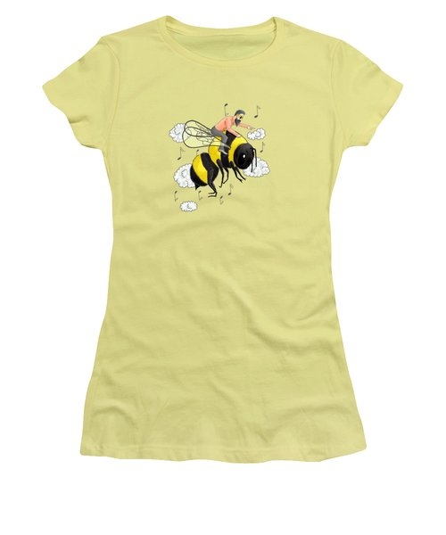 Flight Of The Bumblebee By Nicolai Rimsky Korsakov Women's T-Shirt (Athletic Fit)