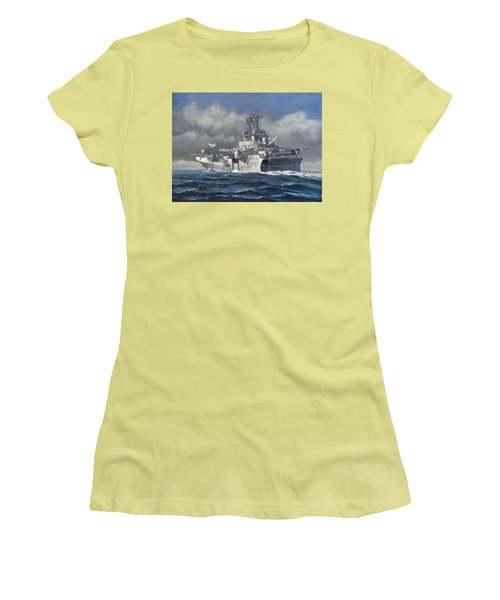 Women's T-Shirt (Junior Cut) featuring the painting Flight Ops by Stephen Roberson