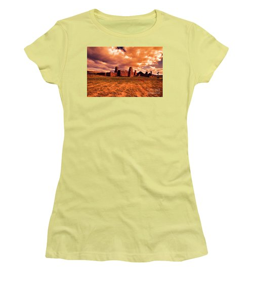 Flinders Ranges Ruins Women's T-Shirt (Junior Cut) by Douglas Barnard