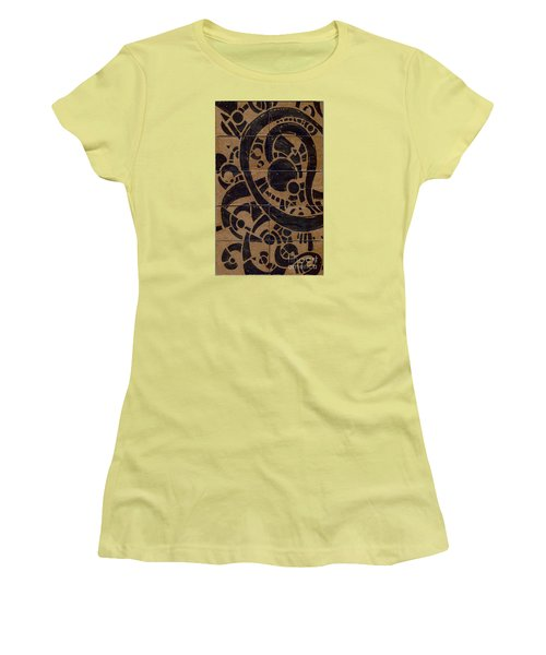 Flipside 1 Panel A Women's T-Shirt (Junior Cut) by Joseph A Langley