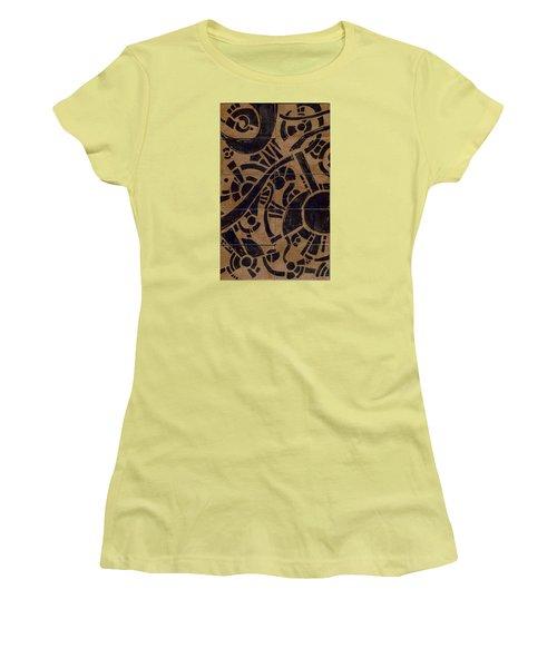 Flipside 1 Panel B Women's T-Shirt (Junior Cut) by Joseph A Langley