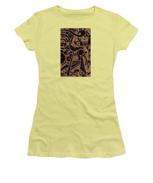 Flipside 1 Panel C Women's T-Shirt (Junior Cut) by Joseph A Langley