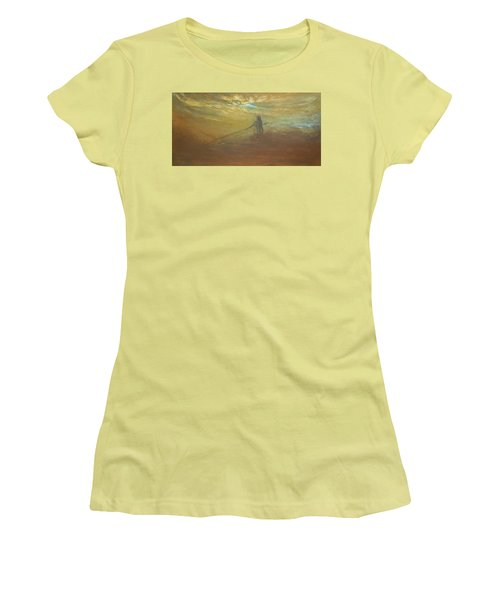 Float On Women's T-Shirt (Junior Cut) by Jane See