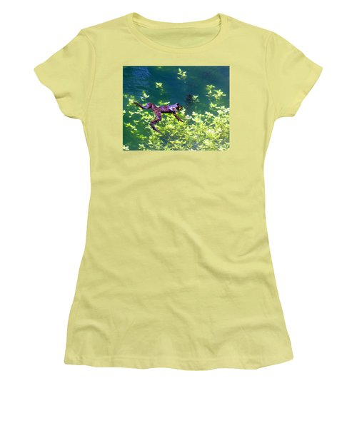 Floating Frog Women's T-Shirt (Athletic Fit)