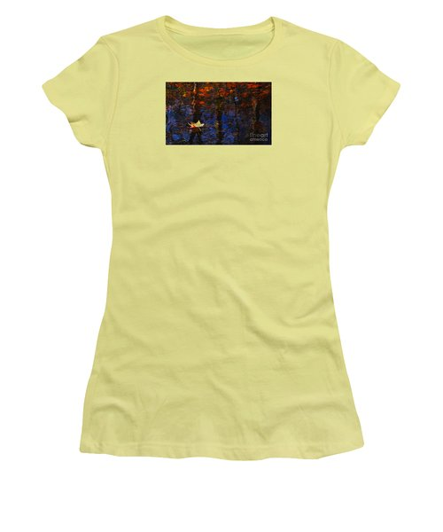 Floating In Fall Women's T-Shirt (Athletic Fit)