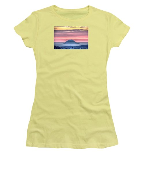 Floating Mountain Women's T-Shirt (Junior Cut) by Fiskr Larsen