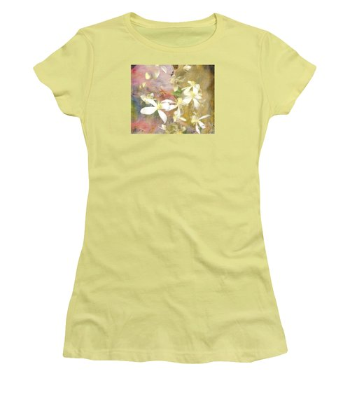 Floating Petals Women's T-Shirt (Junior Cut) by Colleen Taylor