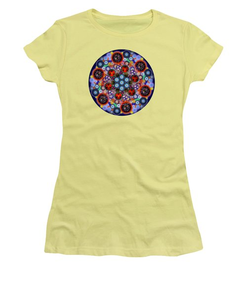 Flora Viscera Mandala Women's T-Shirt (Athletic Fit)