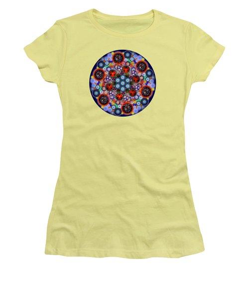 Flora Viscera Mandala Women's T-Shirt (Athletic Fit)