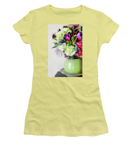 Floral Bouquet In Green Women's T-Shirt (Athletic Fit)