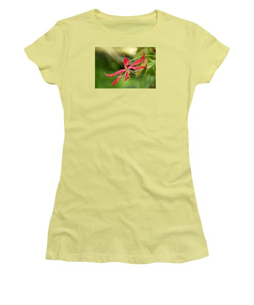 Floral Flair Women's T-Shirt (Junior Cut) by Deborah  Crew-Johnson