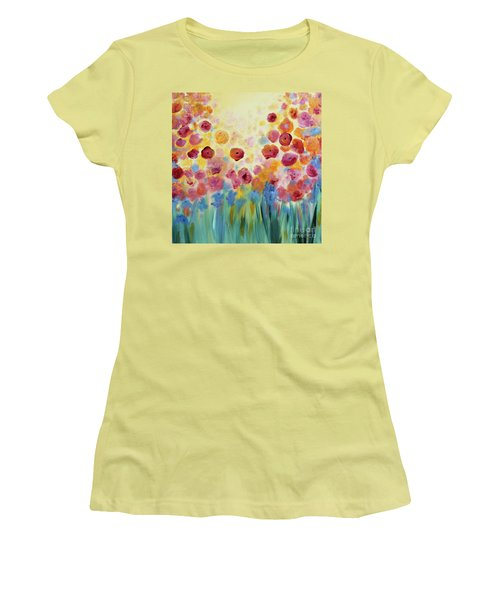 Floral Splendor II Women's T-Shirt (Athletic Fit)