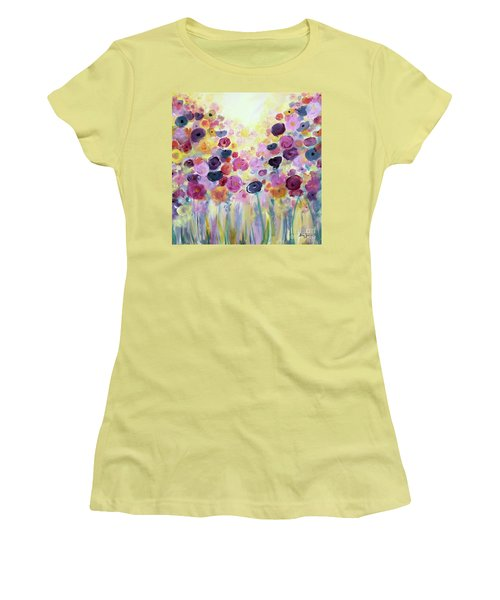 Floral Splendor IIi Women's T-Shirt (Athletic Fit)
