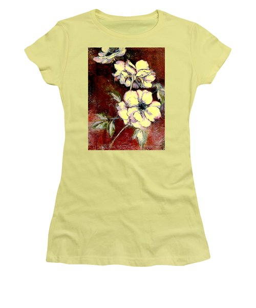 Floral Watercolor Painting Women's T-Shirt (Athletic Fit)