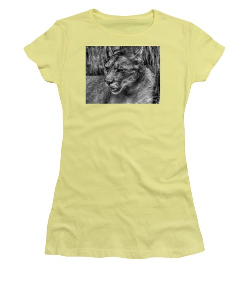 Florida Panther Women's T-Shirt (Junior Cut) by Myrna Bradshaw