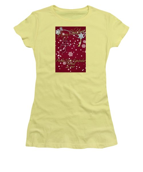 Florida State Seminoles Christmas Card Women's T-Shirt (Athletic Fit)