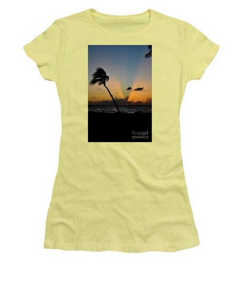 Florida Sunrise Palm Women's T-Shirt (Athletic Fit)