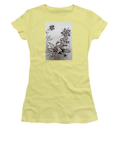 Flower 9 Women's T-Shirt (Athletic Fit)
