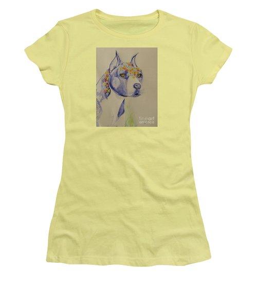 Flower Dog 1 Women's T-Shirt (Athletic Fit)