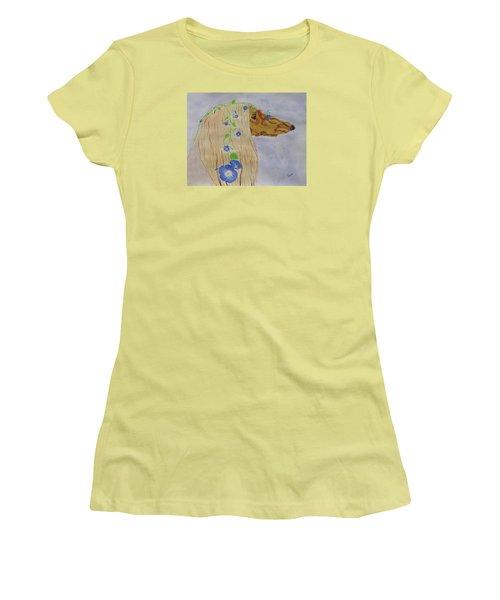 Flower Dog 10 Women's T-Shirt (Athletic Fit)