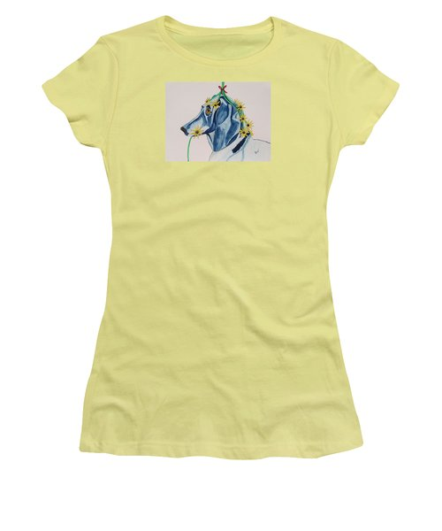 Flower Dog 8 Women's T-Shirt (Athletic Fit)